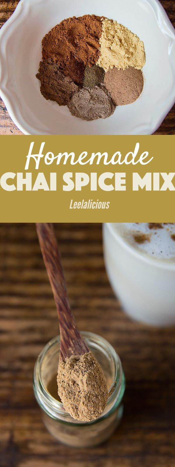 If you love chai lattes, you need to whip up this homemade Masala Chai Spice mix! With this seasoning mix on hand, you can easily give your baked treats a delicious chai flavor or quickly make your beloved chai latte at home.  Sponsored | Tea | Spices | Recipe | Baking