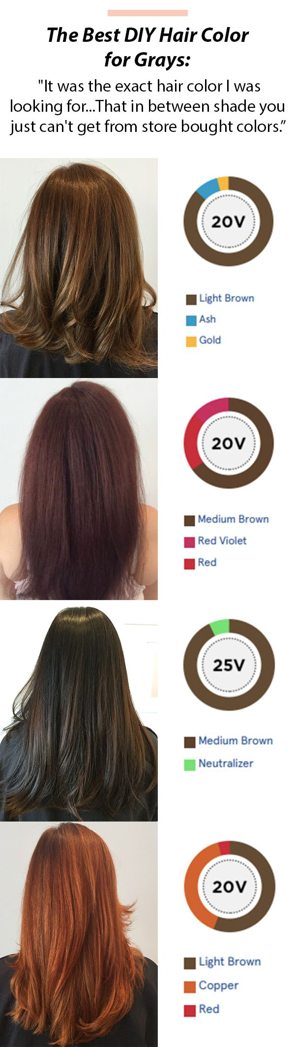 Simple Solution For Coloring Gray Hair I Love This It Has Saved Me Bundles Of Money So Easy To Use And Always C Grey Hair Color Diy Hair Color Hair Styles