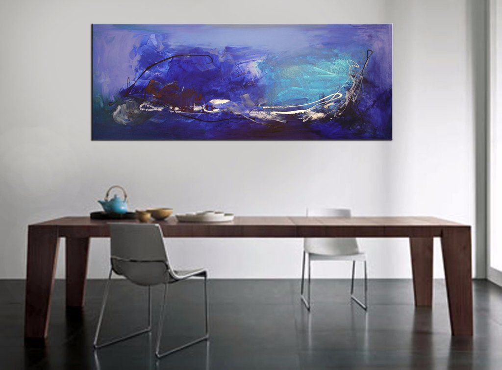 Blue Abstract art | Large abstract paintings for sale UK | Original canvas art for modern and contemporary interiors | Modern art | Free UK delivery