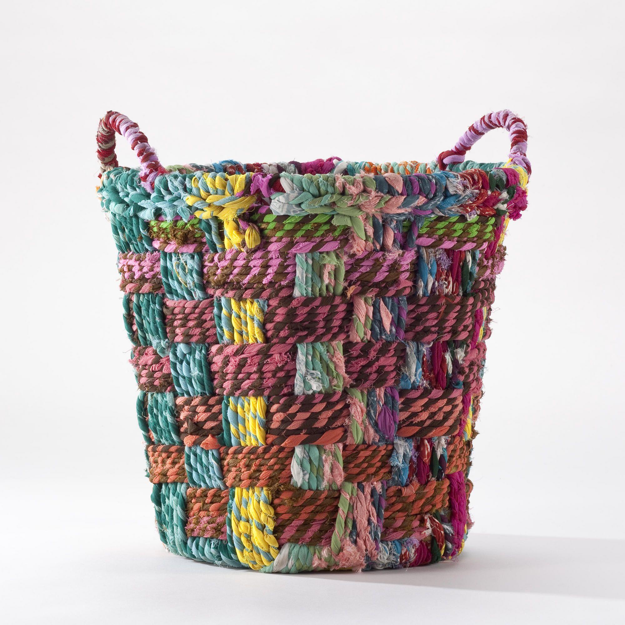 Small Round Chindi Basket | World Market