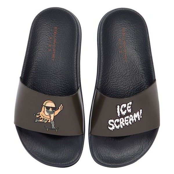 ade84e665 Stella Mccartney Kids Kids-boys Ice Scream! Rubber Slide Sandals ( 79) ❤  liked on Polyvore featuring black