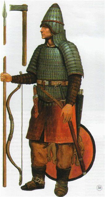 Ancient warrior from the Sargat culture (Western Siberia) 800 BC-400 AD.