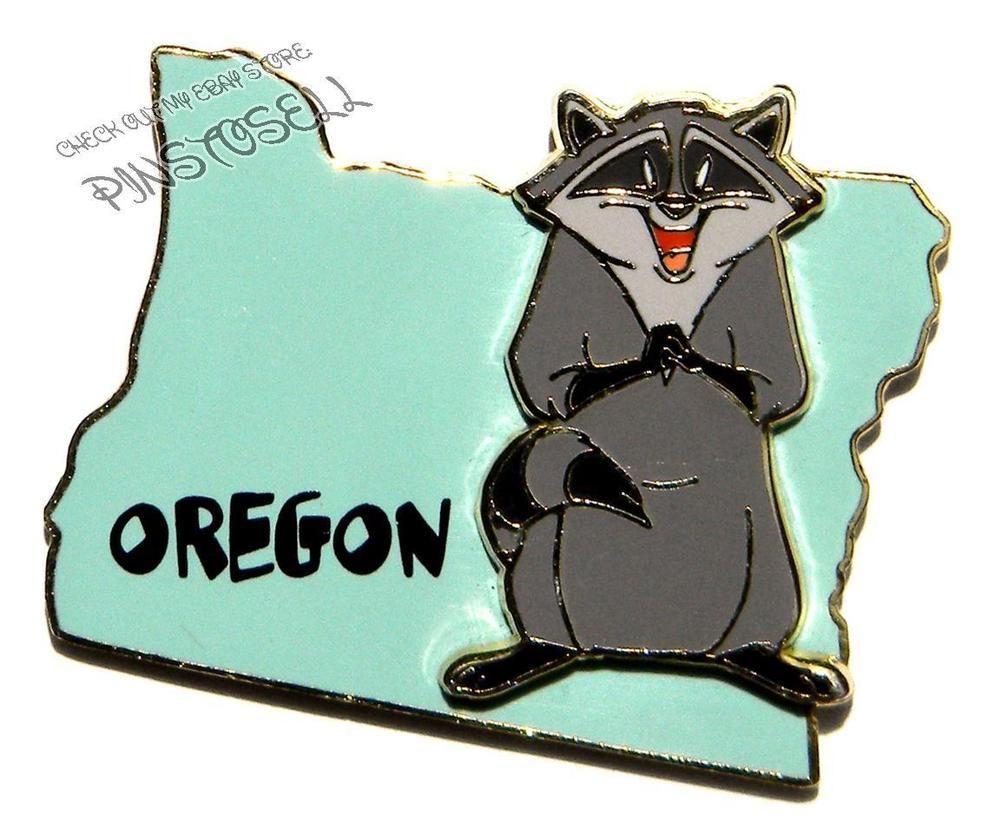 Pin D Oregon Couleur oregon w/ meeko from pocahontas -- state character disney