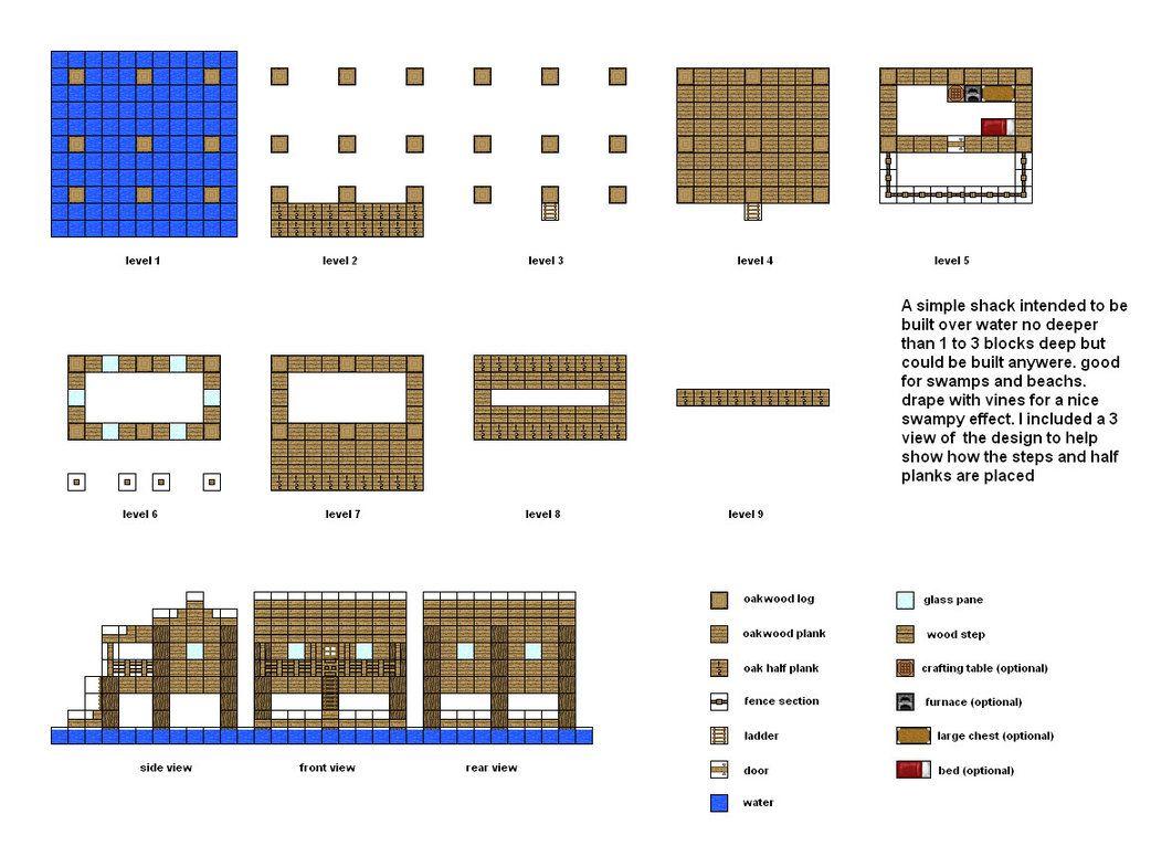 Swamp Shack | Minecraft houses blueprints, Minecraft ...
