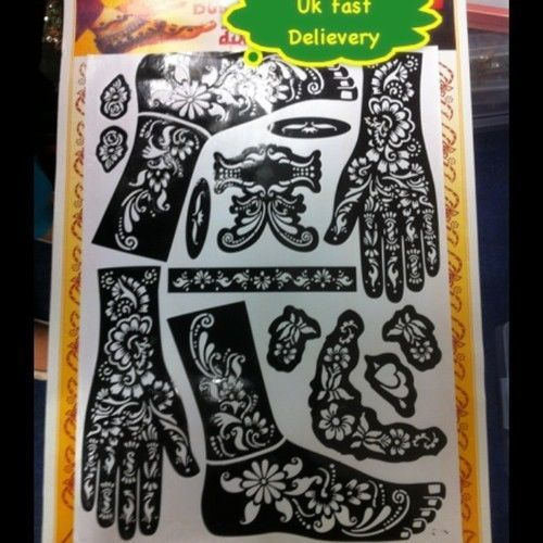 fe2c03b05 Henna-Stencils-Mehndi-Templates-Easy-To-Use-Mixed-Designs-Indian-Style-Body- Art