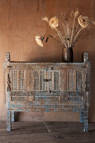 Rustic Blue Indian Damchiya Cabinet   Sideboards   Shop Nectar   1