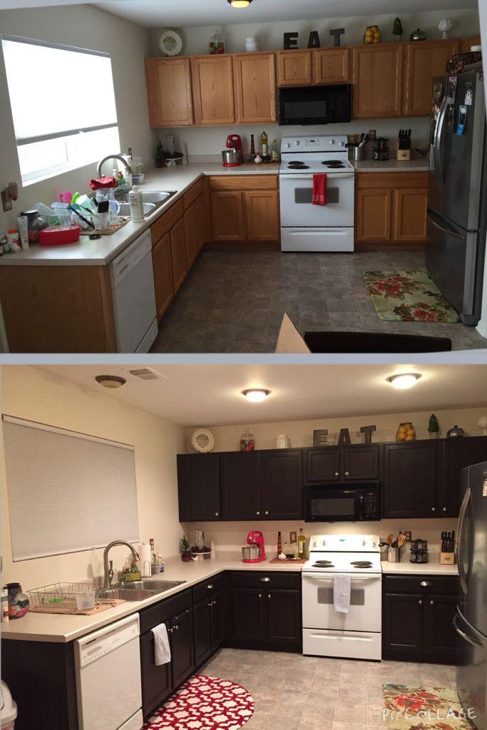 Best Rustoleum Cabinet Transformation Kitchen Makeover Dark 400 x 300