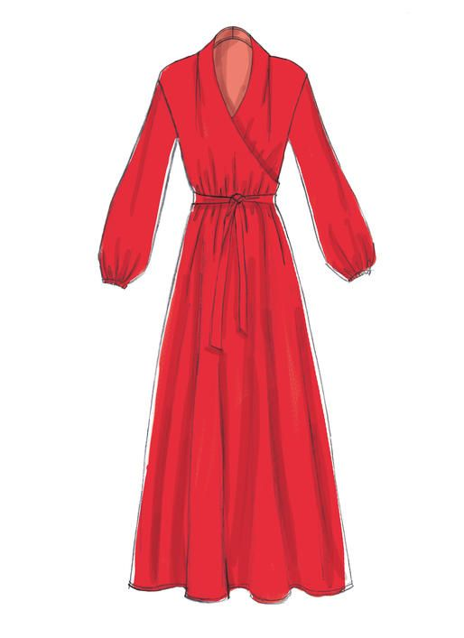 McCall\'s M7534 Misses\' Mock-Wrap Dresses sewing pattern   Pattern ...