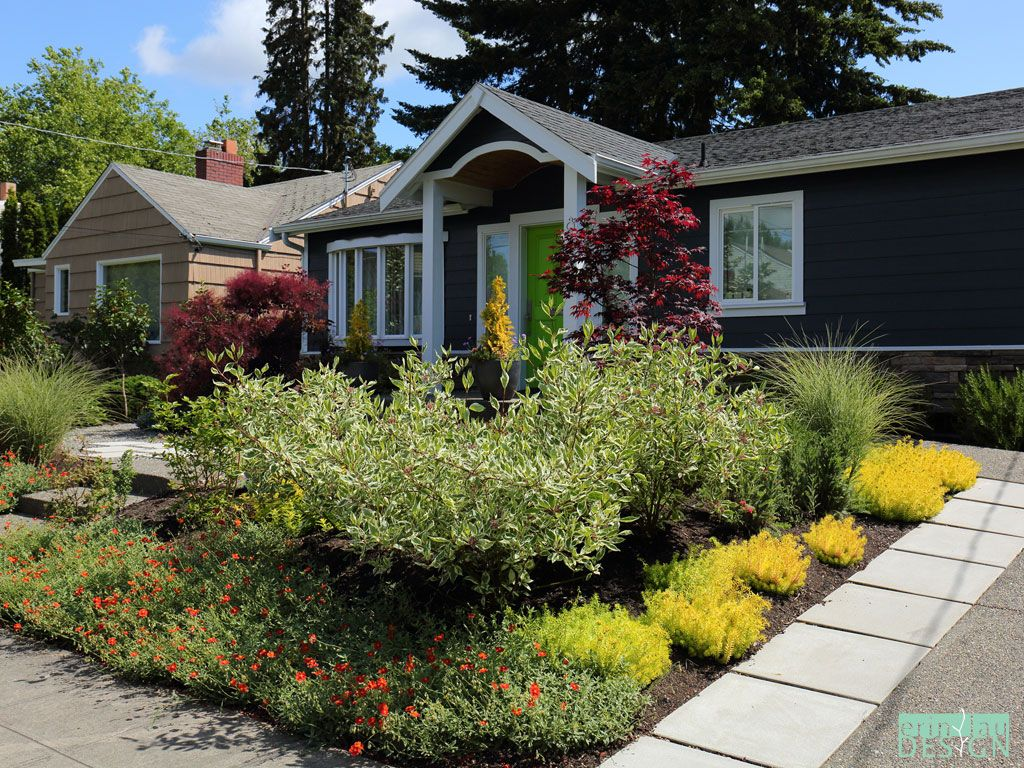 Seattle Landscape Design Erin Lau Front Yard Front Yard Landscaping Yard Landscaping