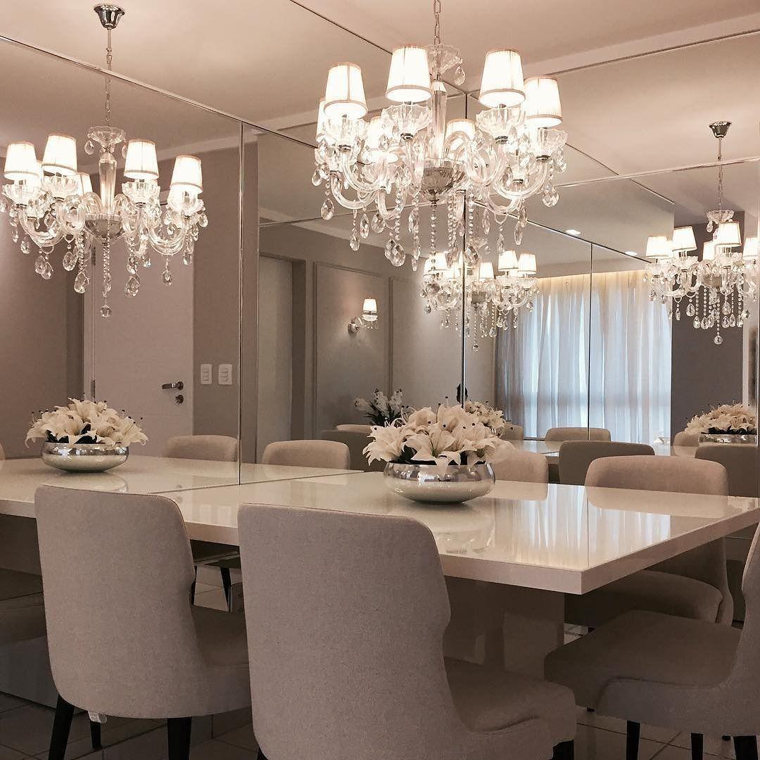 Sala De Jantar Bonita E Clean Olhem Como As Paredes Espelhada  -> Fotos De Paredes Bonitas