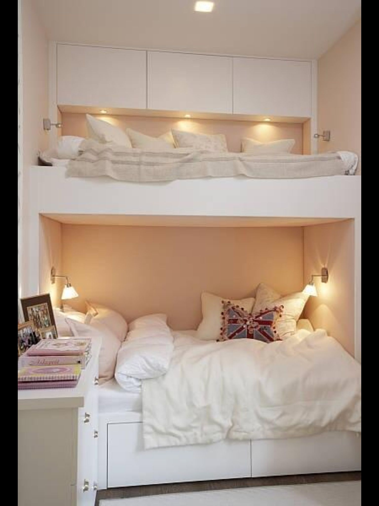 Under loft bed lighting ideas  Bed idea  Rooms  Pinterest  Bedrooms Small living and Room