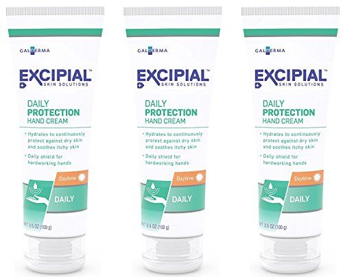 Excipial Daily Protection Daytime Hand Cream, 3.5 Ounce, (Pack of 3)