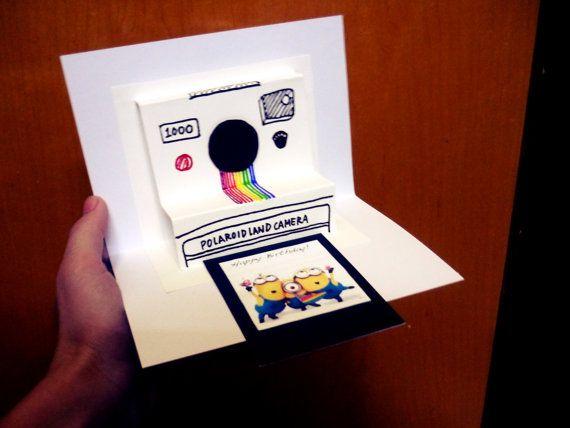 Polaroid Camera Pop Up Card Birthday Invitation Wedding Etsy Pop Up Invitation Pop Up Card Templates Birthday Cards