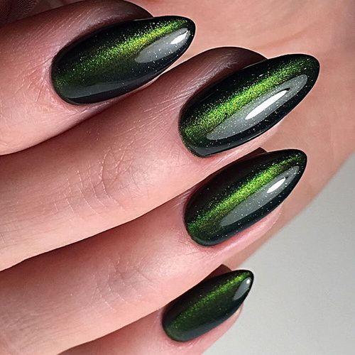Modele Unghii Ochi De Pisica 2018 Unghii Green Nails Green Nail