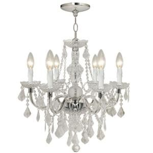 Hampton Bay Maria Theresa 6 Light Acrylic Chandelier Sparkles Like Crystal,  Light Weight And