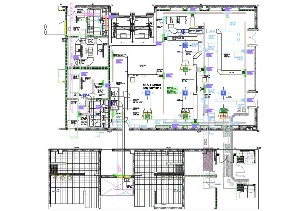Hospital Building HVAC Duct Design Layout Plan | Building hvac, Hvac duct,  Hvac design | Hvac Duct Drawing Example |  | Pinterest