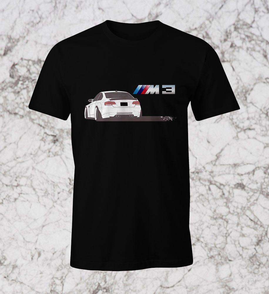 BMW E92 M3 NEW BLACK T-SHIRT DRIFT M POWER PERSONALIZED TEE 100% COTTON  PRINT