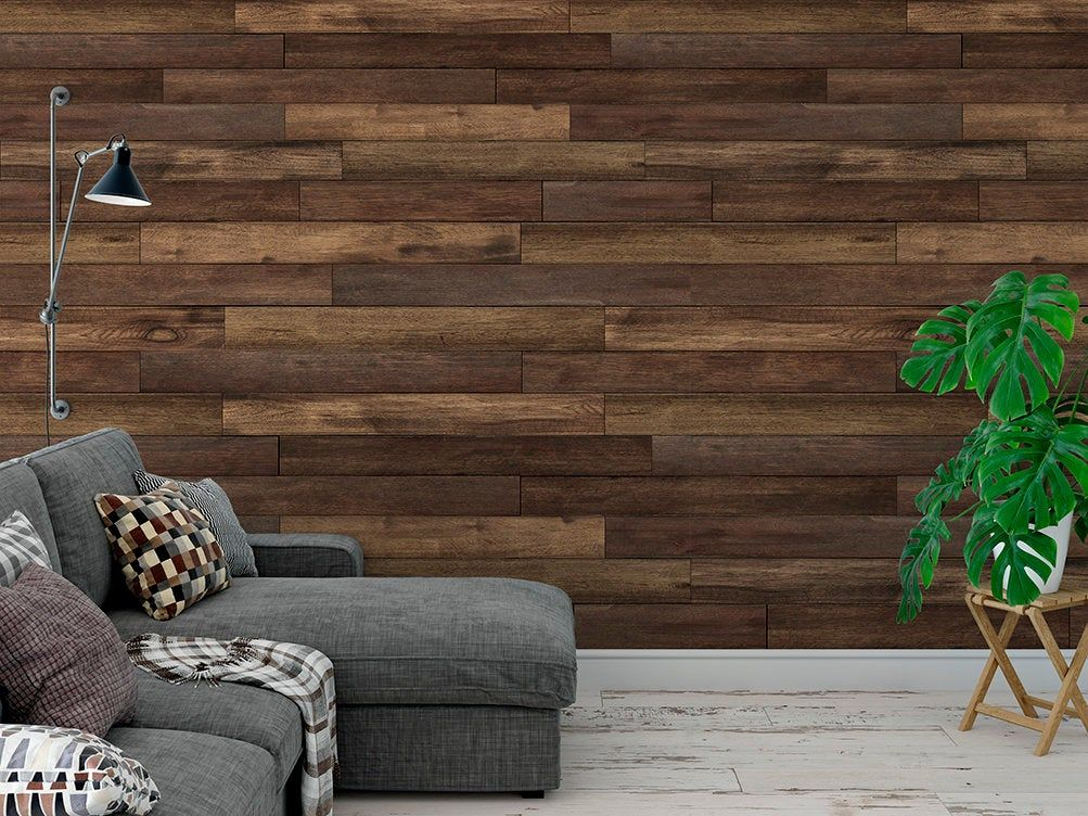 Peel And Stick Removable Wallpaper Brown Wood Panel Wallpaper Etsy In 2020 Wood Wallpaper Wood Pattern Wallpaper Removable Wood Wallpaper