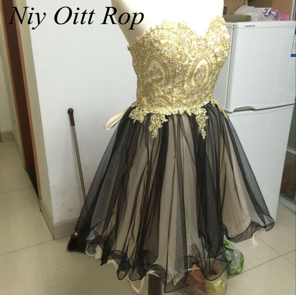 Click to buy ucuc new design short prom dress applique knee length