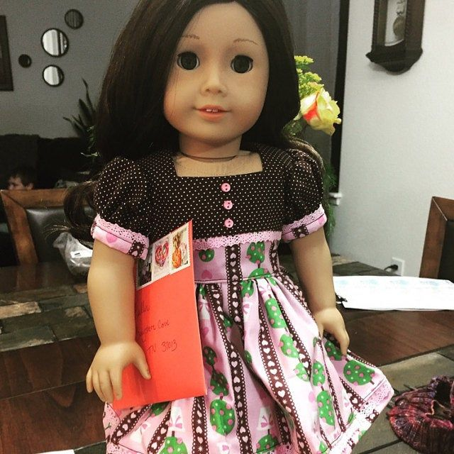 Items similar to Peppermint Stick - Victorian dress and apron for American Girl doll with undergarments on Etsy