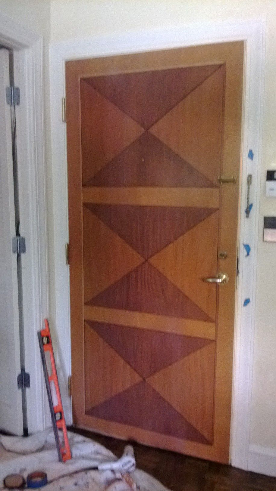 Plain Hollow Core Door With Faux Wood Paint Projects And Ideas From Pinterest Pinterest