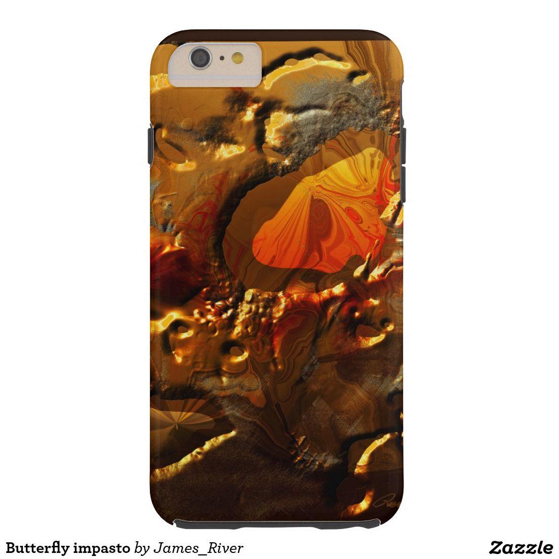 Butterfly impasto tough iPhone 6 plus case