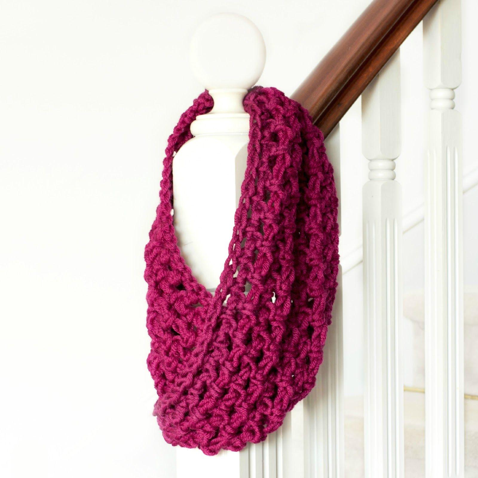 Basic Chunky Cowl - Beginner Crochet Pattern | Hopeful honey, Honey ...