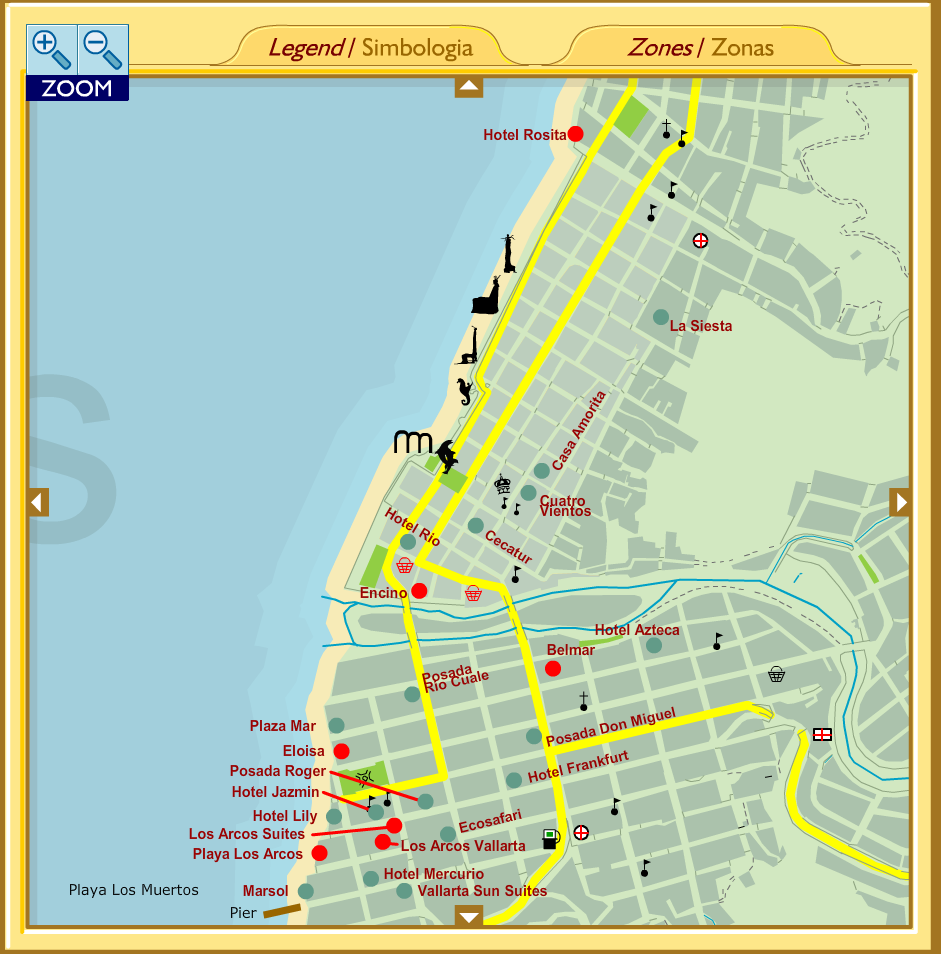 check out our interactive puerto vallarta map has landmarks hotels supermarkets gas