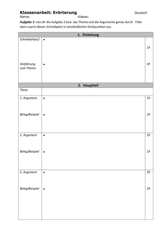 4teachers Geschichten Schreibplan
