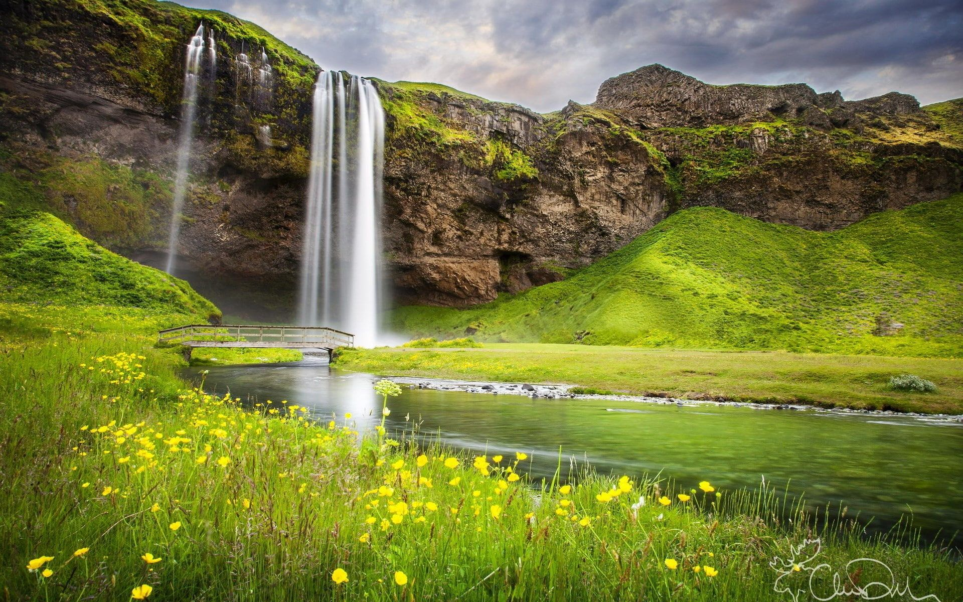 Hd High Resolution Nature 1920x1200 1080p Wallpaper Hdwallpaper Desktop In 2020 Waterfall Landscape Pictures Iceland Waterfalls