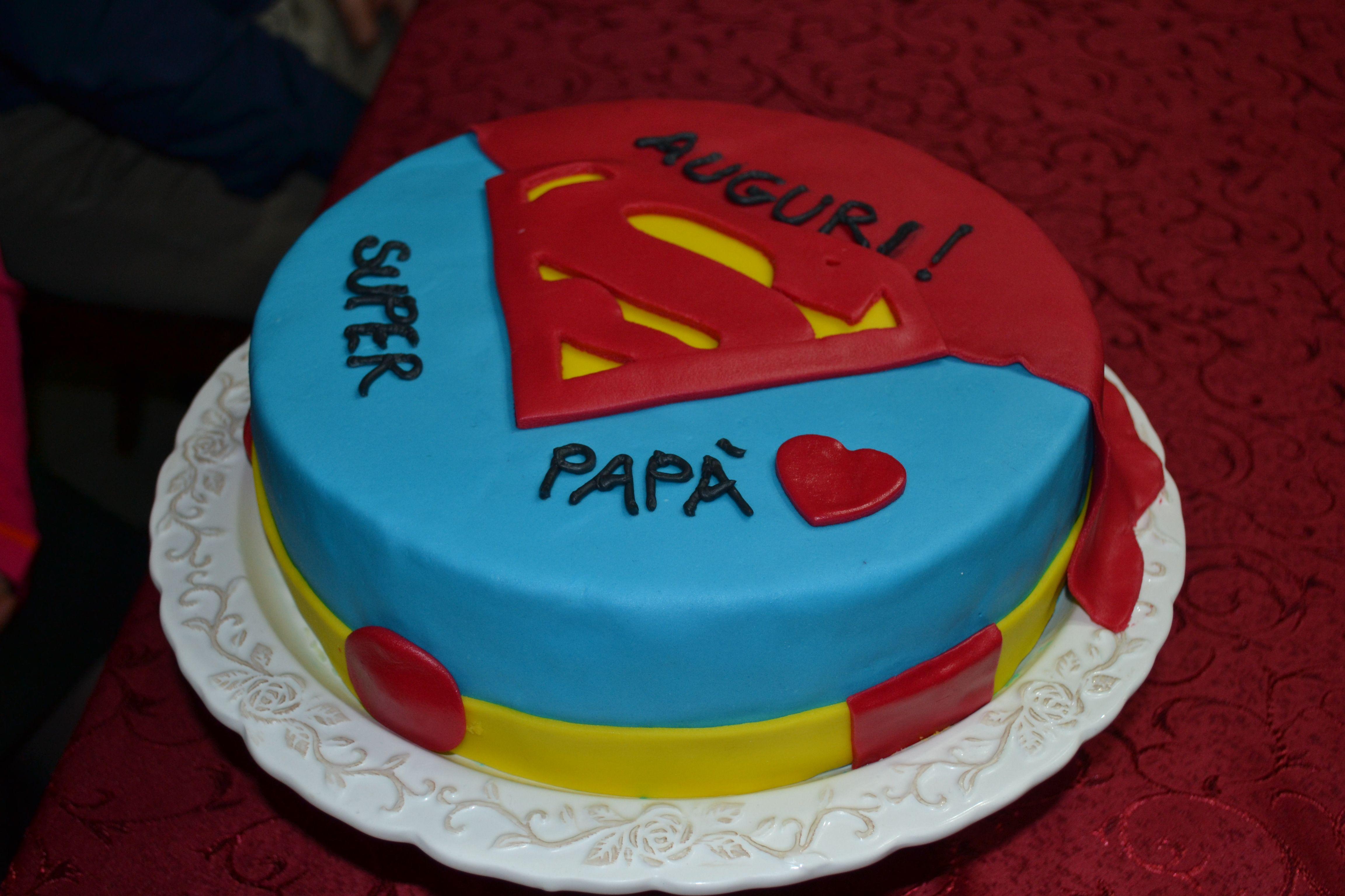 Torta Compleanno Super Papà