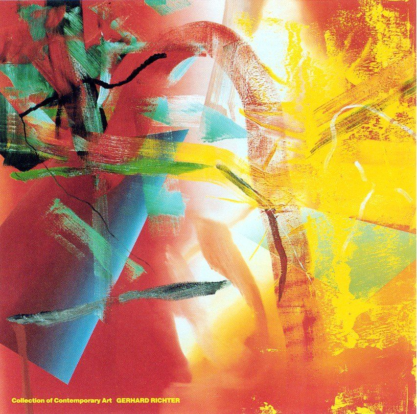 Gerhard Richter, Merlin (Malerei, Abstrakte Malerei, modern - wohnzimmer bilder abstrakt