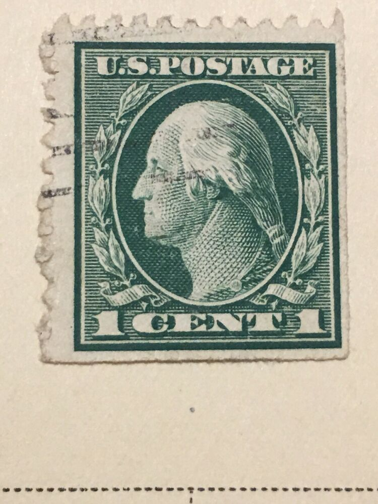 6 Values Cent Postage Stamp