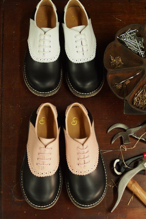 【Gentlewomen紳士女生】Ashley復古雙色馬鞍牛津鞋