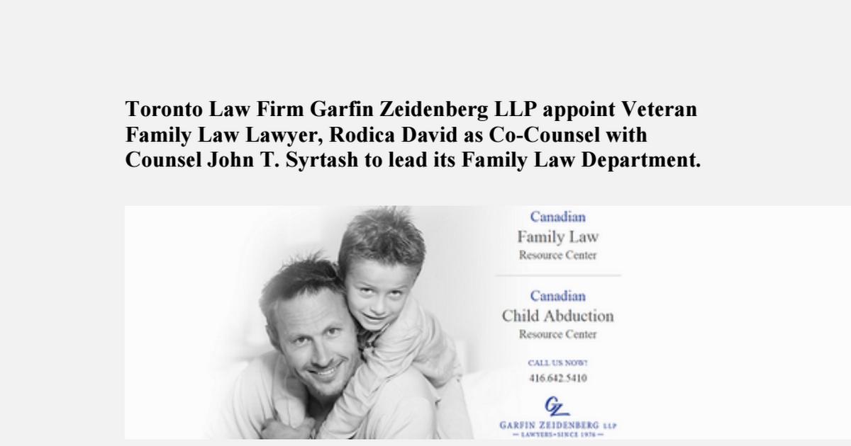 Family law lawyers in toronto ontario, Ontario Family law