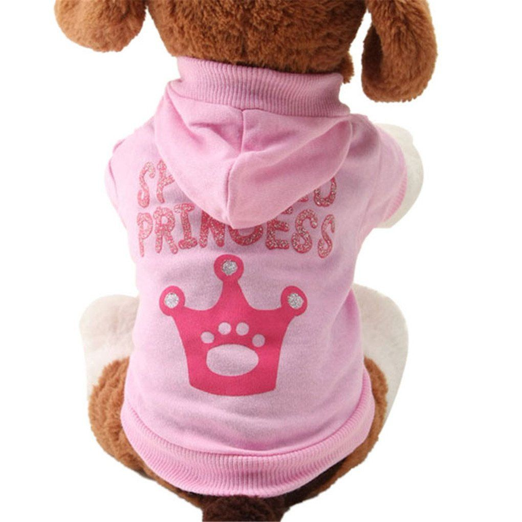 Puppy clotheshaoricu costumes cute pet dog puppy clothes crown