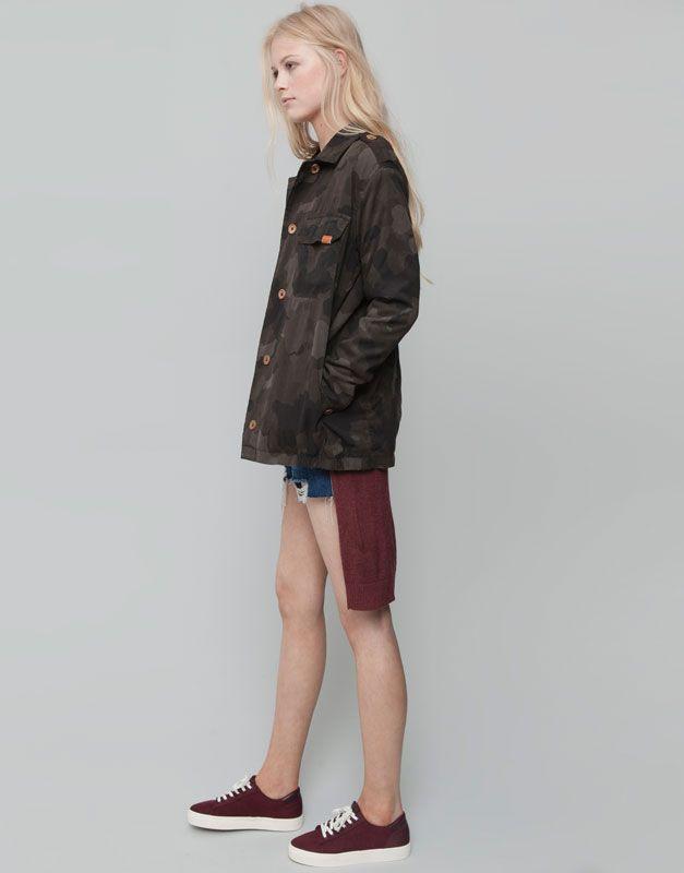 À Pull Camouflage Blouson Teenage Fashion Poches amp;bear wpqAW05