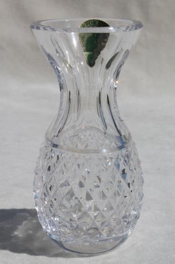 Waterford Crystal Colleen Bud Vase W Original Label Pineapple
