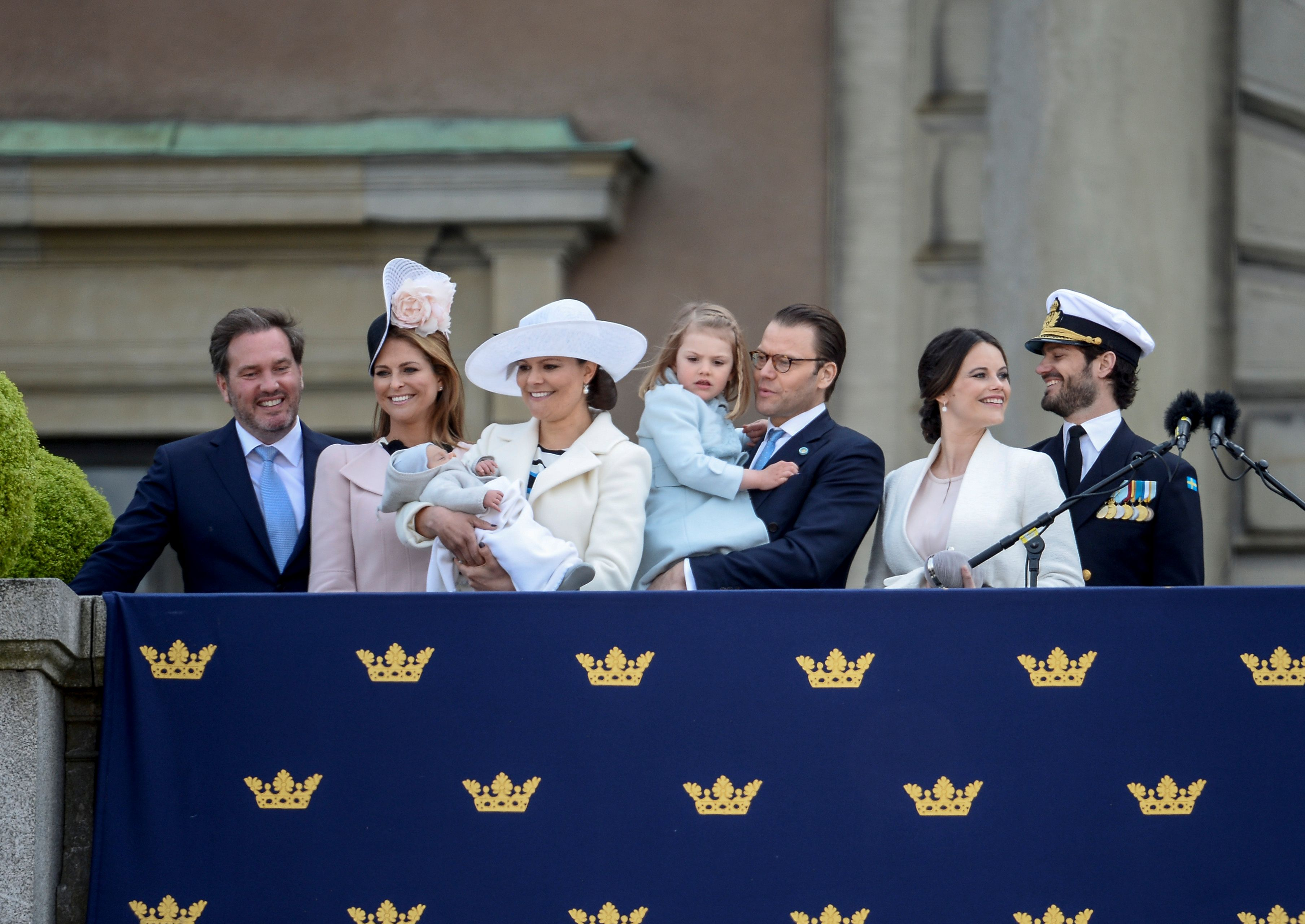 Princess Sofia of Sweden makes first appearance after giving birth to her son Prince Alexander.