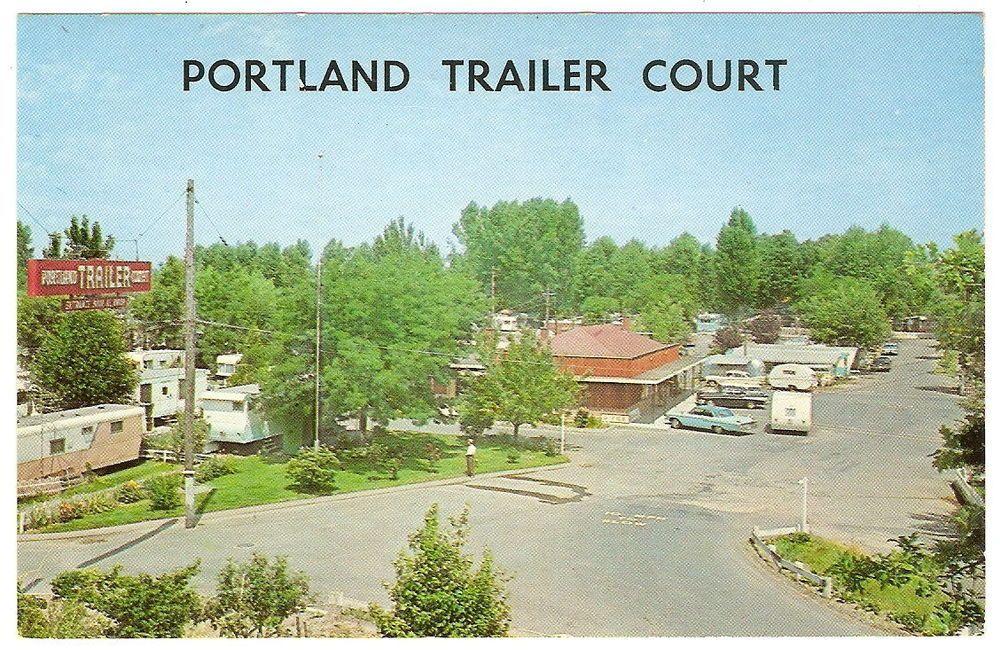 1960s PORTLAND TRAILER COURT Oregon PARK MOBILE HOME Cars AUTOMOBILES Photo PC