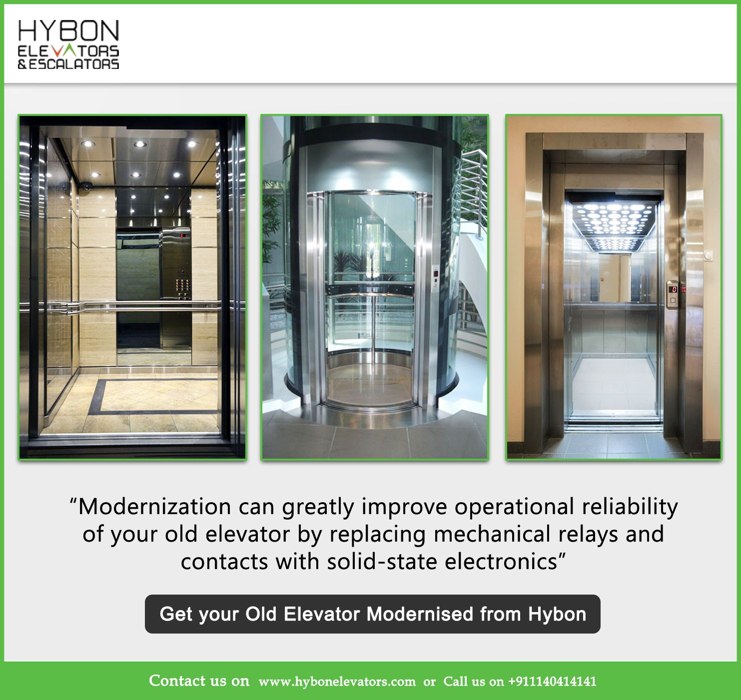 Hybon Elevators is well known for modernization of Elevators