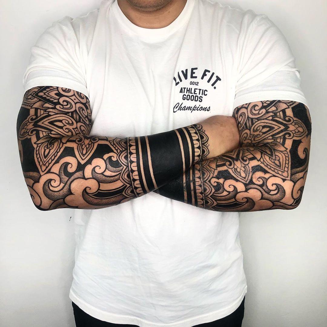 Oriental ornamental tattoo by Melow Perez
