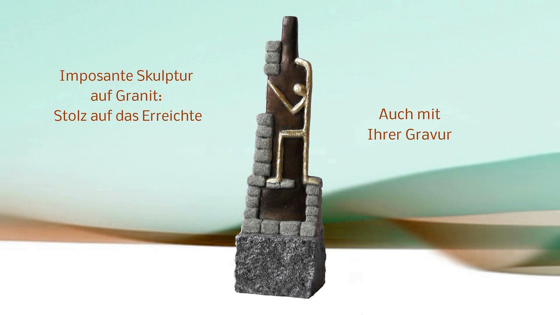Diese Skulptur in Bronze und Granit Kunst ist hervorragend wenn Sie originelle Geschenke für Geschäftsfreunde