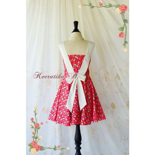 A Party Princess Retro Dresses Red Tea Dresses With Heatbeat Print ...