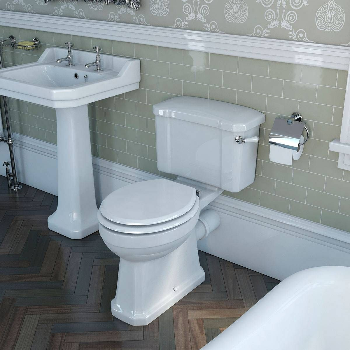Camberley Close Coupled Toilet inc Luxury White MDF Seat | Ideas for ...