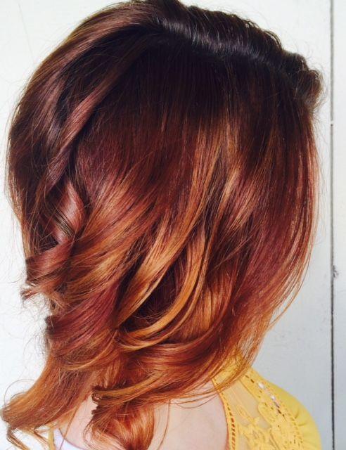Love This Red Balayage Medium Length Hair Color Idea Hair Love