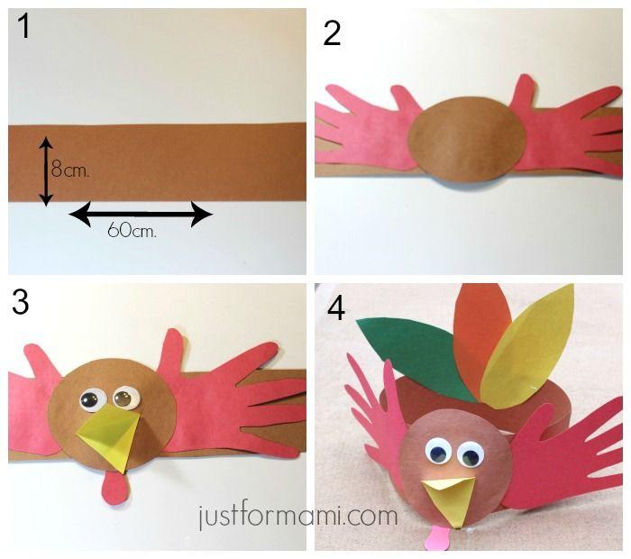 Sombreros de Pavo para niños - Just for Mami Manualidades | DIY ...