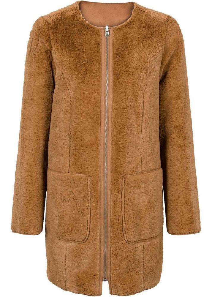 braun Neu SKleidung Teddy 36 Jacke Damen Plüsch Gr kXuZPiTwO