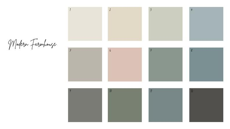 modern farmhouse color scheme digital download paint on most popular interior paint colors for 2021 id=51527