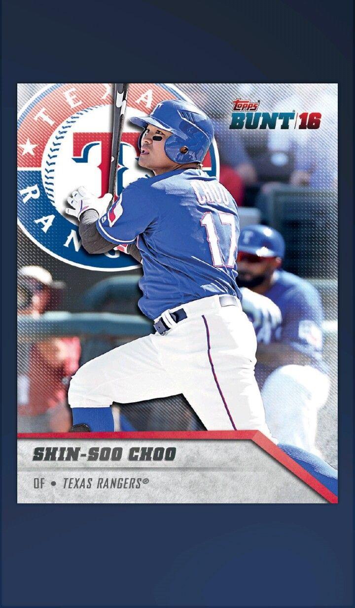 ShinSoo Choo Baseball, Texas rangers, Baseball cards